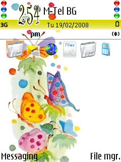 Butterfly Colours theme