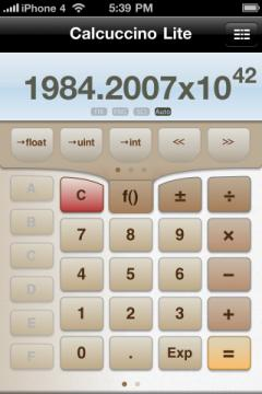 Calcuccino Lite Programmers' Calculator