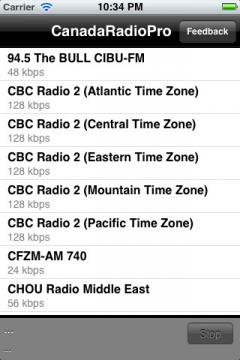 Canada Radio Pro for iPhone/iPad