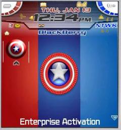 Captain America Theme for Blackberry 7100