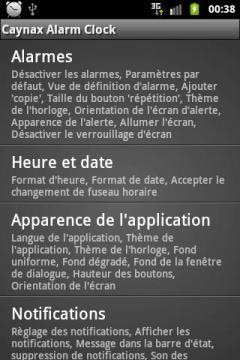 Caynax Alarm Clock French Language Pack
