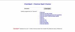 ChemSpell - Firefox Addon