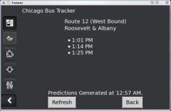Chicago Bus Tracker - Firefox Addon