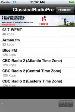 Classical Radio Pro for iPhone/iPad
