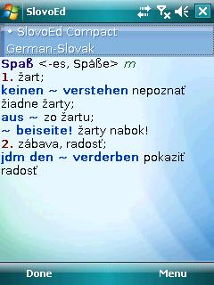 SlovoEd Compact English-Slovak & Slovak-English dictionary for Windows Mobile