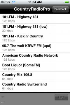 Country Radio Pro for iPhone/iPad