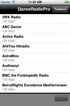Dance Radio Pro for iPhone/iPad