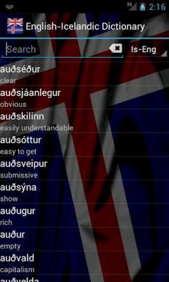 English-Icelandic Dictionary FREE