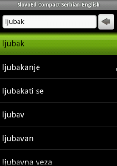 English Talking SlovoEd Compact English-Serbian & Serbian-English Dictionary for Android