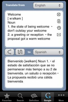English Vietnamese English Dictionary (iPhone)