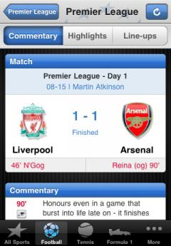 Eurosport for iPhone