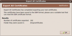 Export All Certificates - Firefox Addon