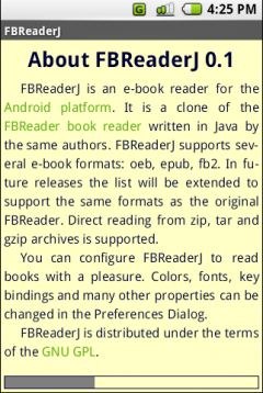 FBReader (Android 1.5 - 1.6)
