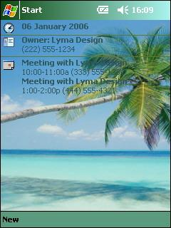 Tropical Theme for Pocket PC