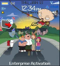 Family Guy 2 Theme for Blackberry 8100 Pearl