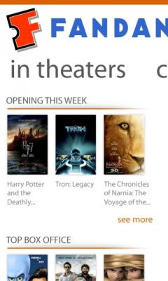 Fandango Movies - Times & Tickets (Windows Phone)