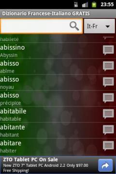 French-Italian Dictionary FREE