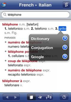 French-Italian Translation Dictionary and Verbs