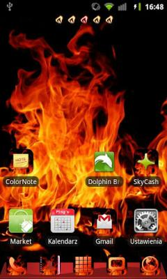 GO Launcher EX Theme Fire