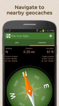 Geocaching for Android