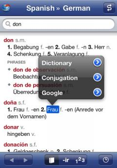Spanish-German Dictionary and Verbs