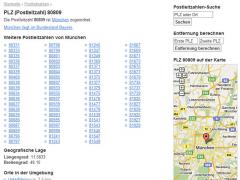 German ZIP-Codes - Firefox Addon