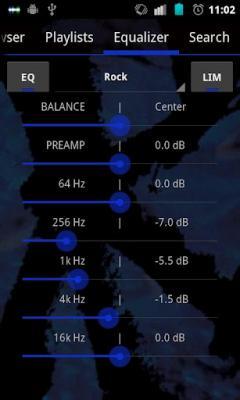 GoneMAD Music Player ICS Holo Dark Blue Skin