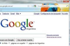 Google Argentina - Firefox Addon
