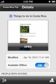 Google Drive (iPhone/iPad)