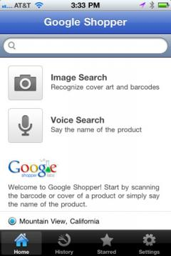 Google Shopper (iPhone)