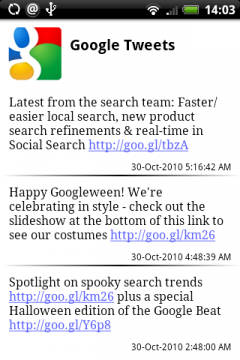 Google Tweets