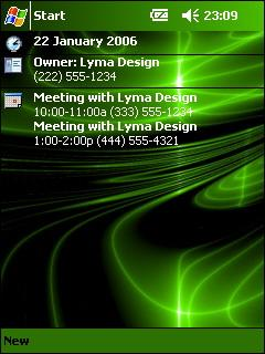 Green Neon Swirl Theme for Pocket PC