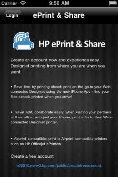 HP Designjet ePrint & Share for iOS
