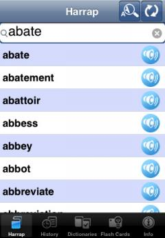 Harrap's English-French & French-English Dictionary (iPhone)