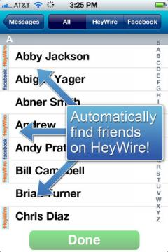 HeyWire for iPhone/iPad