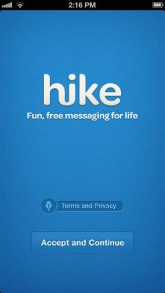 Hike for iPhone