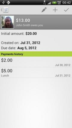 IOU Pro - debt manager for Android