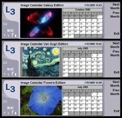 Image Calendar Flowers Edition for Nokia 9500/9300