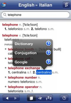 Italian-English Translation Dictionary and Verbs