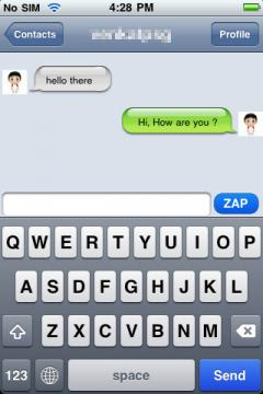 JuzFrens Messenger Lite for iPhone