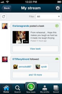 Keek for iPhone