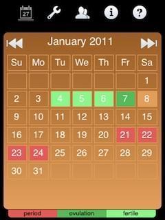 Ladytimer Ovulation Calendar (BlackBerry)