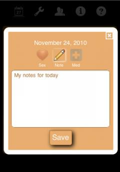 Ladytimer Ovulation Calendar (iPhone)