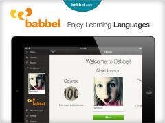 Learn Italian with babbel.com on iPad