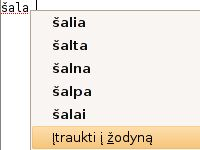 Lithuanian Spellchecking Dictionary - Firefox Addon