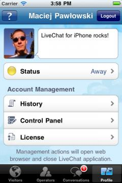 LiveChat for iPhone/iPad