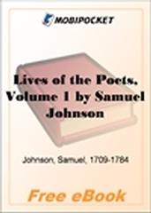 Lives of the Poets, Volume 1 for MobiPocket Reader