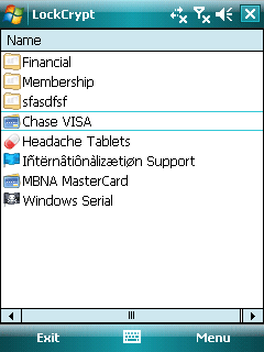 LockCrypt Mobile (Windows Mobile)