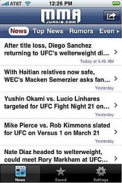 MMA Junkie Mobile
