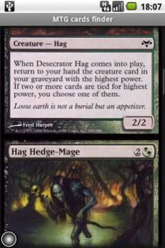 MTG cards finder